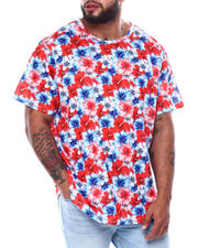 Big & Tall - American Floral All Over Print T-Shirt (B&T)-2478445