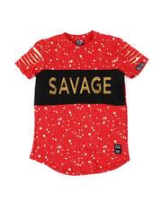 Tops - Embossed Savage Foil Printed Tee (8-18)-2477098