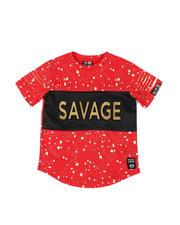 Boys - Embossed Savage Foil Printed Tee (4-7)-2477103