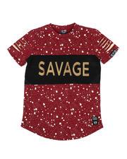 Boys - Embossed Savage Foil Printed Tee (8-18)-2477108