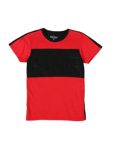 Arcade Styles - Savage Embossed T-Shirt (8-20)