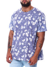 Big & Tall Faves - Starlight Floral All Over Print Faded T-Shirt (B&T)-2478372