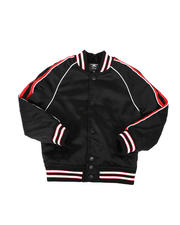 Outerwear - Snap Front Stripe Trim Varsity Jacket (2T-10)-2476440