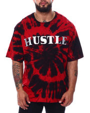 "Buyers Picks - Tie Dye S/S Tee W/ ""Hustle"" Embossed Foil (B&T)-2478254"