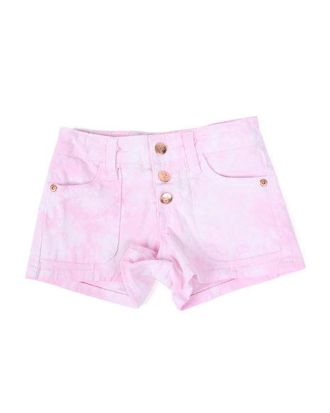 Kensie Girl - Nicole Tie Dye Cargo Shorts (4-6X)