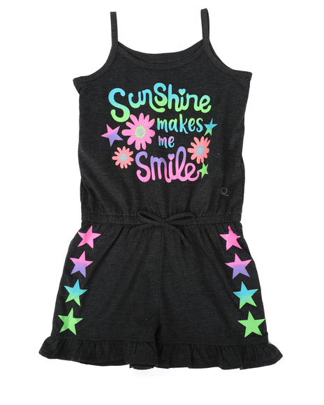 La Galleria - Sunshine Makes Me Smile Print Romper (4-6X)