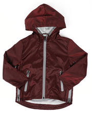 Outerwear - Zip Side Hooded Windbreaker Jacket (2T-7)-2477036