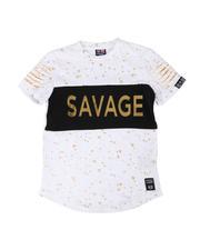 Tops - Embossed Savage Foil Printed Tee (8-18)-2477524