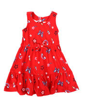Girls - American Print Dress (2T-4T)-2477818