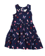 Girls - American Print Dress (2T-4T)-2477822
