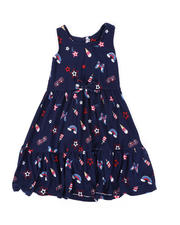 Girls - American Print Dress (4-6X)-2477826