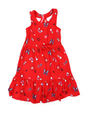 Girls - American Print Dress (4-6X)-2477835