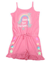 Rompers - Reach For The Stars Glitter Print Romper (4-6X)-2477884