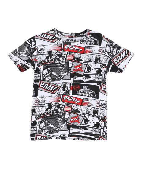 Arcade Styles - Comic All Over Printed Tee (8-18)