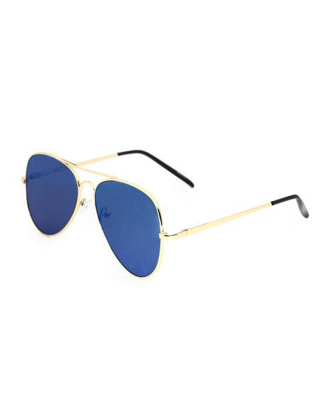 Buyers Picks - Bridge Top Aviator Gold Frame Sunglasses