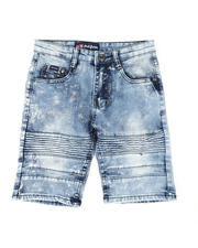 Phat Farm - Washed Stretch Moto Denim Shorts (8-18)-2479748