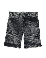Phat Farm - Washed Stretch Moto Denim Shorts (4-7)-2479755