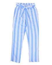 Sizes 7-20 - Big Kids - Paper Bag Waist Pants (7-16)-2477744
