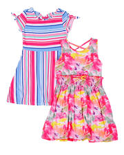 Girls - Stripe & Tie Dye Tank Dress 2 Pc Set (7-16)-2477779