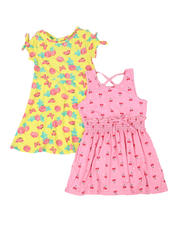 Girls - Floral & Cherry Dress 2 Pc Set (4-6X)-2477806