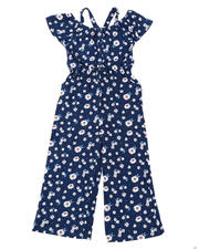 La Galleria - Floral Off Shoulder Jumpsuit W/ Ruffle Sleeves (7-16)-2477810