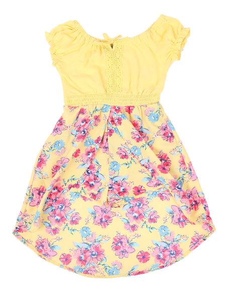 La Galleria - Cap Sleeve Flower Skirt Walk Through Romper (4-6X)