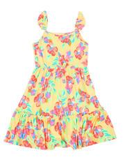 Dresses - Floral Print Flutter Sleeve Dress (7-16)-2477939