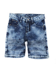 Phat Farm - Washed Stretch Moto Denim Shorts (4-7)-2479738