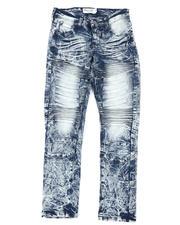 Arcade Styles - Embossed Moto Jeans (8-18)-2479817
