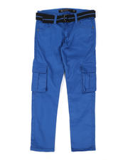 Arcade Styles - Belted Stretch Twill Cargo Pants (8-16)-2479042