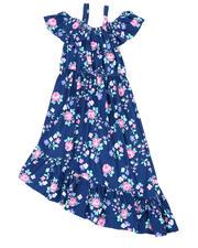 La Galleria - Floral Off Shoulder Dress W/ Ruffle Neck (7-16)-2477704