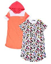 Dresses - Eva Leopard & Color Block 2 Pc Dress Set (7-16)-2477775