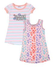 Kensie Girl - Jada Flower Child & Leopard 2 Pc Dress Set (4-6X)-2477789
