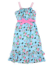 Dresses - Butterfly Floral Print Dress (7-16)-2477876