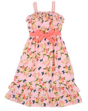 Dresses - Butterfly Floral Print Dress (7-16)-2477880