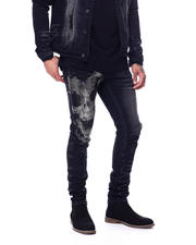 Industrial Indigo - Flame Skull Stretch Jean-2480484