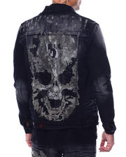 Outerwear - Flame Skull Denim Jacket-2480502