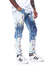 Buyers Picks - Cut and Sew Moto Stretch Jean w Paint Splatter-2480329