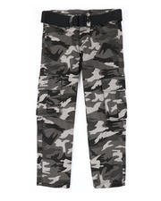 Boys - Belted Stretch Twill Cargo Pants (4-7)-2479070
