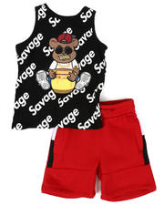 Sizes 2T-4T - Toddler - Tank Top W/ French Terry Short 2 PC Set (2T-4T)-2482151