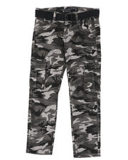 Boys - Belted Stretch Twill Cargo Pants (8-16)-2479075