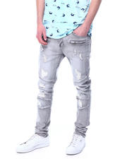 Jeans - Grey Distressed Articulated Jean-2481496