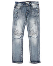 Arcade Styles - Destructed Knee Treatment Jeans (8-18)-2482283