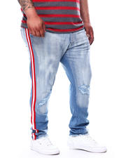 Jordan Craig - Rip Knee Side Stripe Denim Jeans (B&T)-2476794