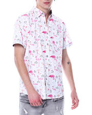 Mens-Holiday - Flamingo AOP SS Woven Shirt-2481259