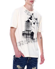 Industrial Indigo - Barbed Wire Stoned out Tee-2481697