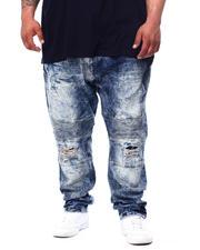 Big & Tall Faves - Veno Biker Jeans With Shredding (B&T)-2481776
