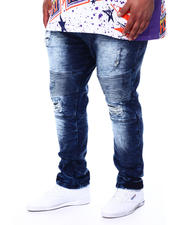 Big & Tall Faves - Veno Biker Jeans With Shredding (B&T)-2481789