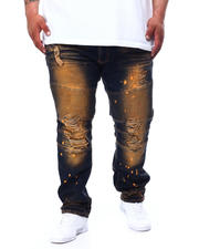 Makobi - Biker Jeans With Bleach Spotting (B&T)-2481942