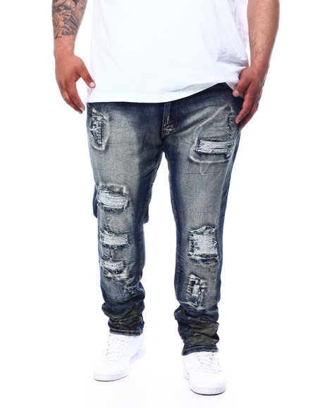 Makobi - Shredded Jeans With Paint Splatter (B&T)